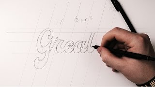 Hand Lettering Tutorial | How To Draw Brush Script