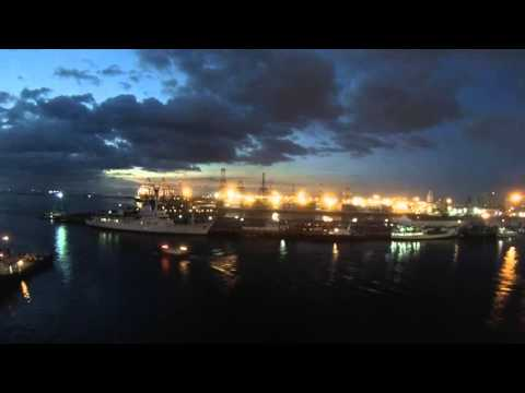 Manila, Philippines - Legend of the Seas Departure Time Lapse HD (2015)
