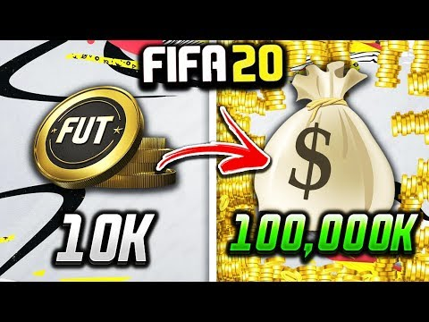 HOW TO GET 100K COINS EASY ON FIFA 20 RIGHT NOW!!