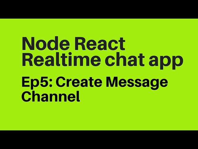 Ep5: Create Group Chat in Reactjs Messenger Chat App