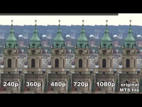 Comparison of quality settings on Youtube - 240p, 360p, 480p