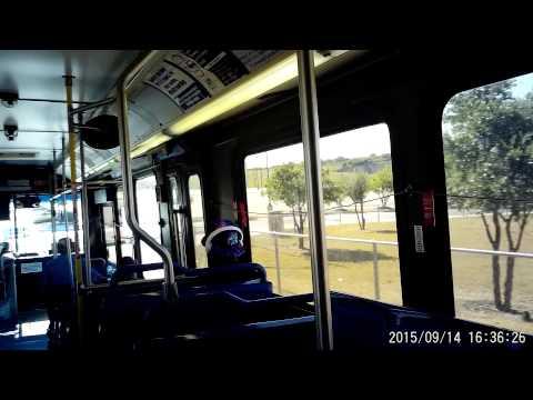 VIA bus route 5O2 in San Antonio, Texas on Monday September 14, 2015