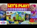 🌼 Baby Born Twins Emma & Ethan Playing With New LEGO DUPLO Set! 🌈 Cute Skit With LEGO Characters!