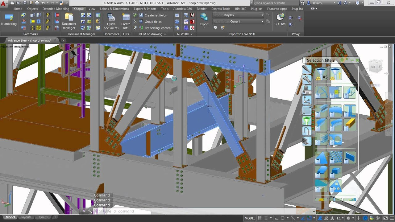 Creating shop drawings with Autodesk Advance Steel  YouTube
