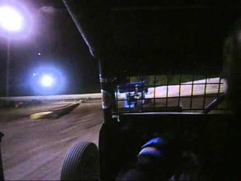 creek county speedway sapulpa oklahoma brent bates 17 sprint car a feature race