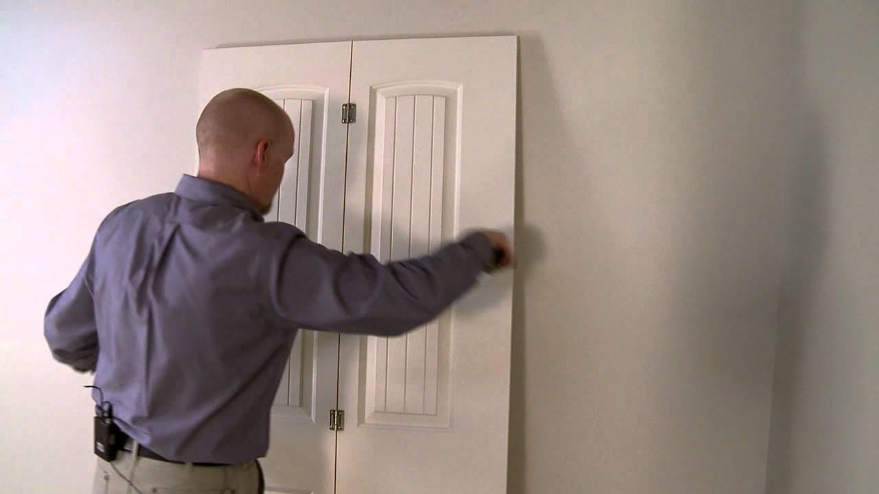 installation d une porte pliante interieure