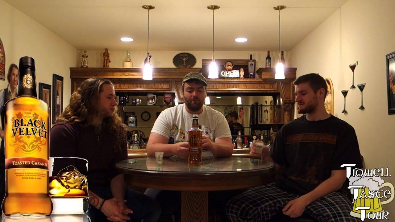 Black Velvet Toasted Caramel Canadian Whiskey Review - YouTube