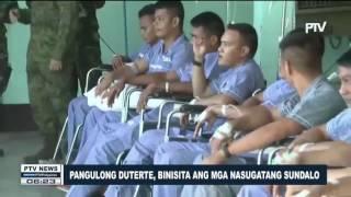 Pangulong Duterte, binisita ang mga nasugatang sundalo