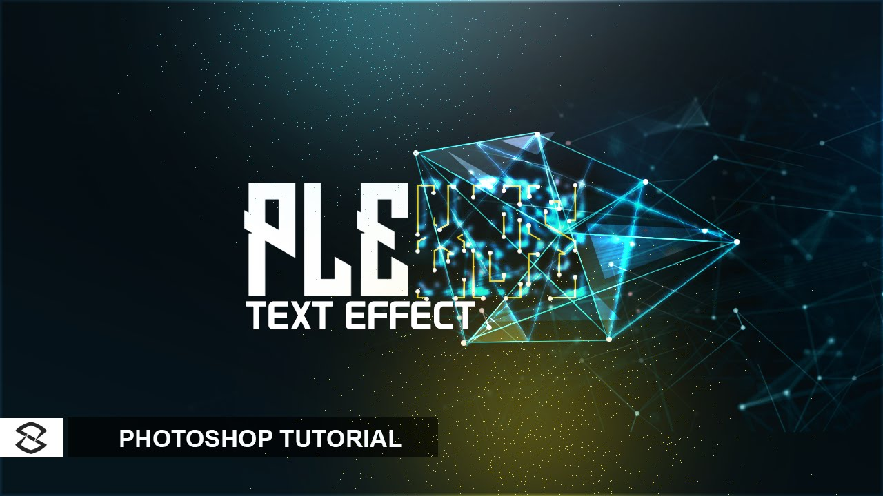 Photoshop tutorial plexus text effect youtube baditri Gallery