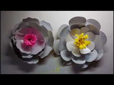 DIY FLOWERS OUT OF RECYCLED PAPER PLATES & DIY FLOWERS OUT OF RECYCLED PAPER PLATES - YouTube