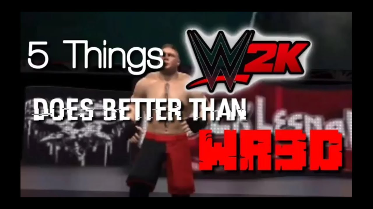 HOW WWE2k IS BETTER THAN WR3D IN 85 SECS Download video