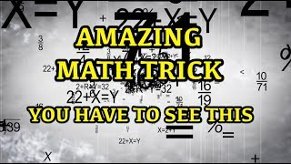 The Greatest Math Trick Ever - Why do we not all do this - Must See