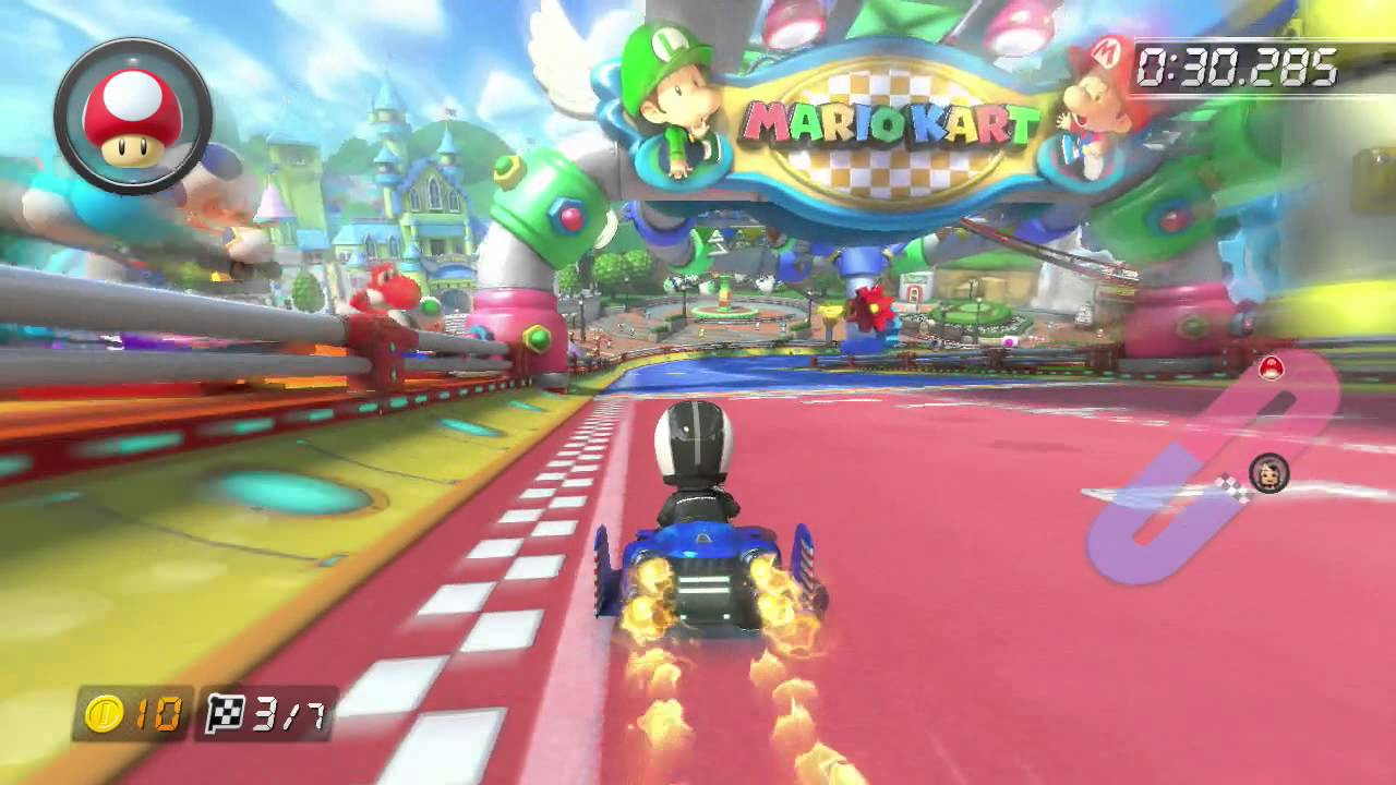 Baby Mario Mario Kart 8: ɢᴄɴ Baby Park Time Trial 1:09.856 (No Fire