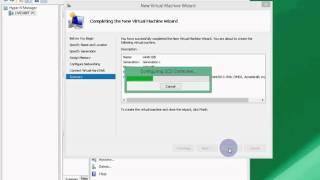 3 Hyper V - Importing a virtual hard drive / machine (.vhd or .vhdx file)