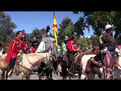 Fiesta of Santa Fe 2015, Mass, Plaza, Historical & Hysterical Parade of Adults, Video