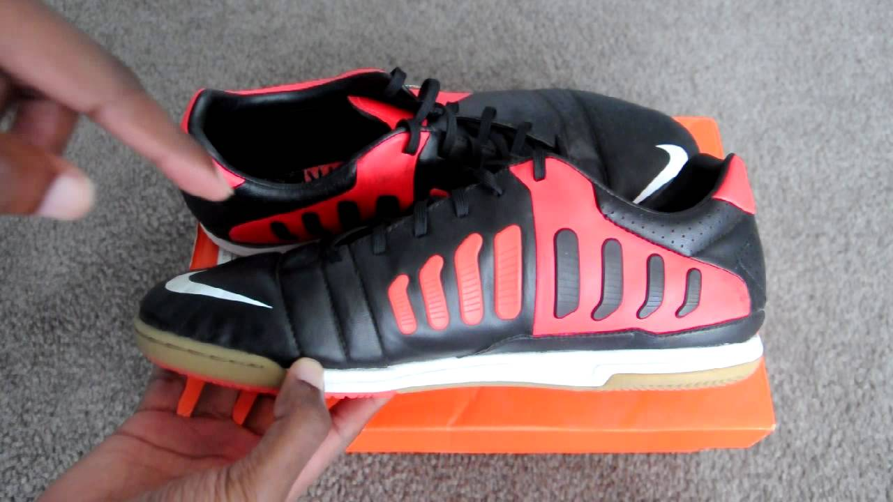 3dd41c6e6de Nike CTR360 Libretto III IC Indoor Soccer Shoes Overview + On Feet - Black  Orange White - YouTube