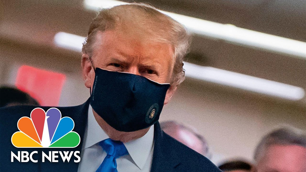 Trump wears mask in public setting for the first time during visit to ...