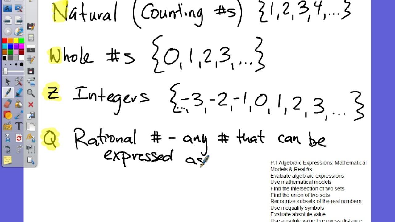 Mooney Review 1 Algebraic Expressions Math Models Real