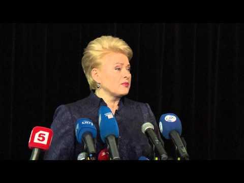 Eastern Partnership Summit, 29 November. Arrival and doorstep by Dalia Grybauskaitė