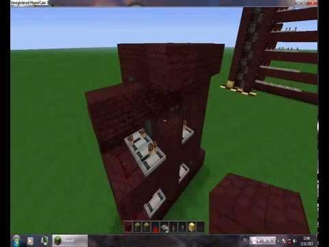 Механизмы в minecraft 5.Лифт с