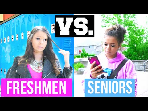 Freshman Year Vs. Senior Year! | Krazyrayray