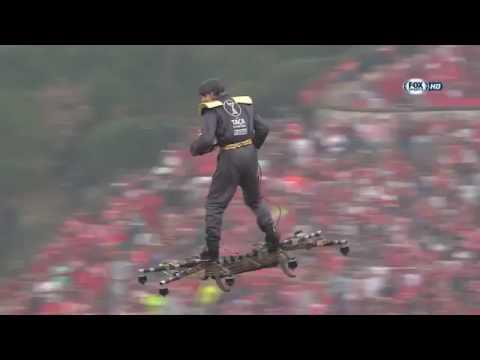 Manned drone skysurfer