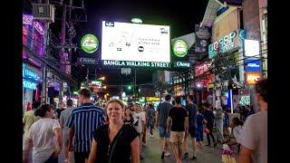 A Walk down Bangla Road Patong Phuket Thailand in the November Rain
