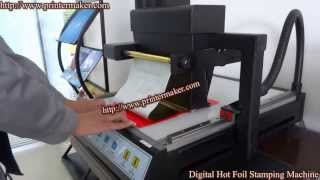 Digital Hot Stamping Machine,How to use Digital Hot Foil Stamping Machine