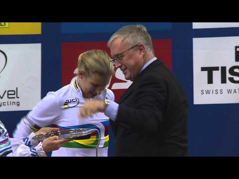 Sarah Hammer Interview & Women's Individual Pursuit Medal Ceremony - 2013 World Track Championships