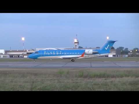 Bombardier CRJ-200 LV-CIJ de Flyest despegando en SAAR 23-06-2017