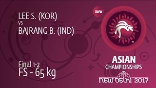 GOLD FS - 65 kg: B. BAJRANG (IND) df. S. LEE (KOR), 6-2