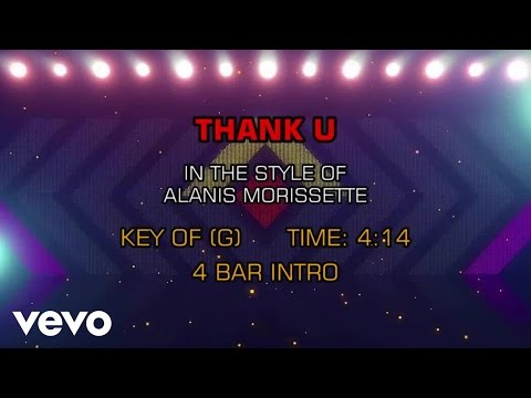 Alanis Morissette - Thank U (Karaoke)