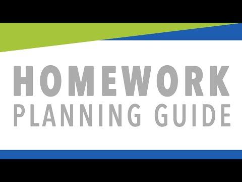 Homework Planning Guide