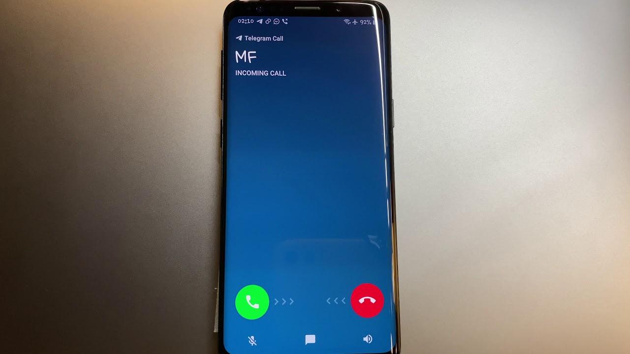 Galaxy S9: WhatsApp, Telegram & Viber Incoming Call