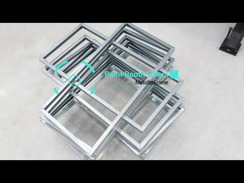Paint booth air filters roll forming line VLB Group metallic frames for air filters roll former HAVC