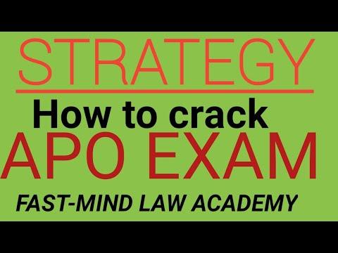 How To Crack UP APO Exam 2019