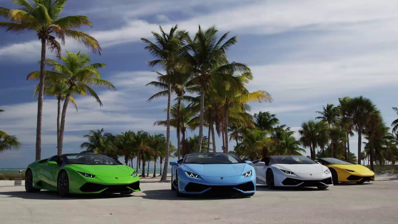 hurac n lp 610 4 spyder for the streets of miami youtube. Black Bedroom Furniture Sets. Home Design Ideas