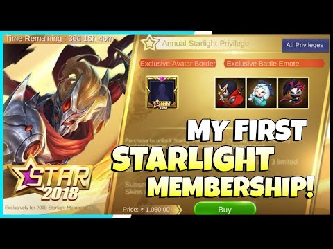 Getting My First Starlight Membership! New Hayabusa Annual Starlight skin, 3 New Emotes | MLBB