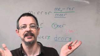 American Pronunciation: mirror, rear, drawer