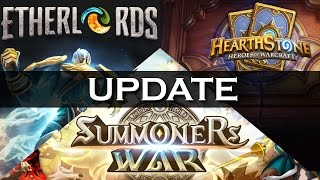 3 Games Update! Summoners War, Etherlords, Hearthstone: Heroes or Warcraft + What's Next