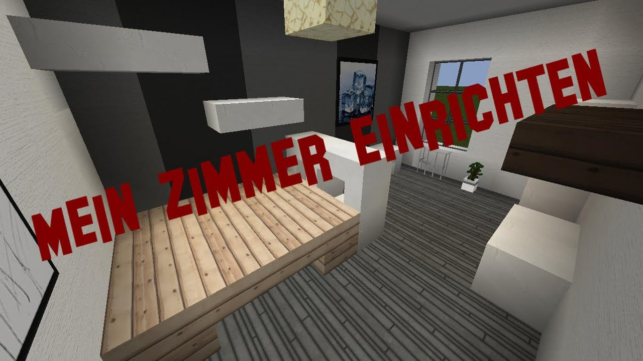 minecraft m bel einrichten mein zimmer infos youtube. Black Bedroom Furniture Sets. Home Design Ideas