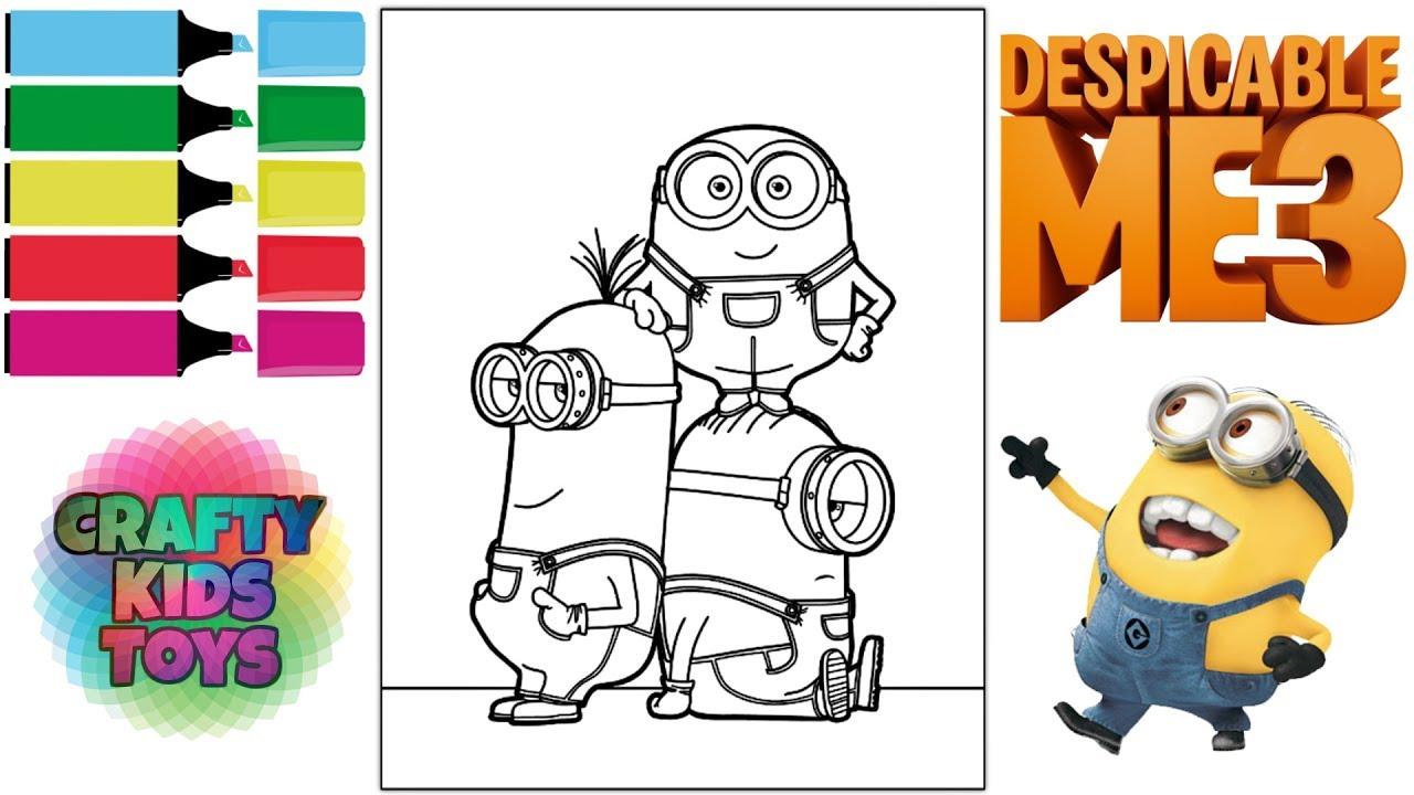 despicable me 3 minions coloring book coloring pages fun for kids - Minions Coloring Book