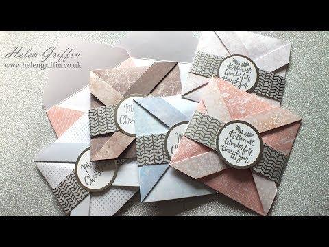 2nd Day of Christmas 2017   Pinwheel Christmas Cards & Envelopes
