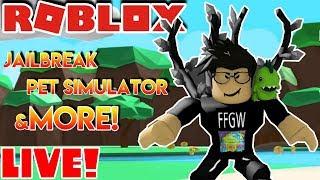 ⛄🌎 Roblox LIVE Stream #180 | Jailbreak - Pet Sim - SpeedRun and MORE!!!
