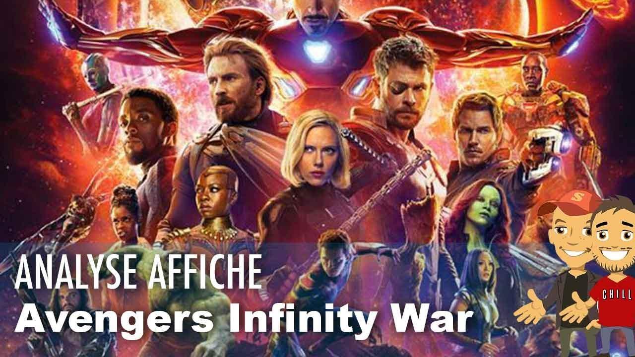 notre analyse de l 39 affiche de avengers infinity war youtube. Black Bedroom Furniture Sets. Home Design Ideas