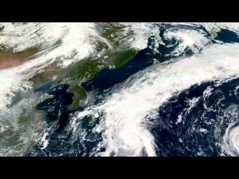 Earth From Space - Sep 8, 2015: Japan, Korea, Beijing & Shanghai