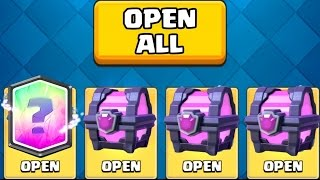 I GOT A LEGENDARY FROM THE CHEST :: Clash Royale :: MAGICAL CHEST OPENING + ELECTRO WIZARD 3.3 DECK