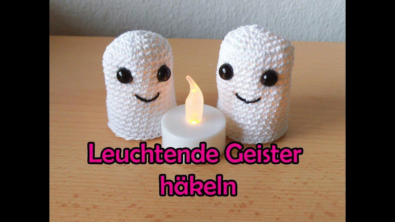 Leuchtende Geister Häkeln Romy Fischer Häkelanleitung Youtube