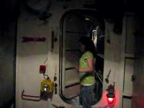 Brea inside the USS Kidd