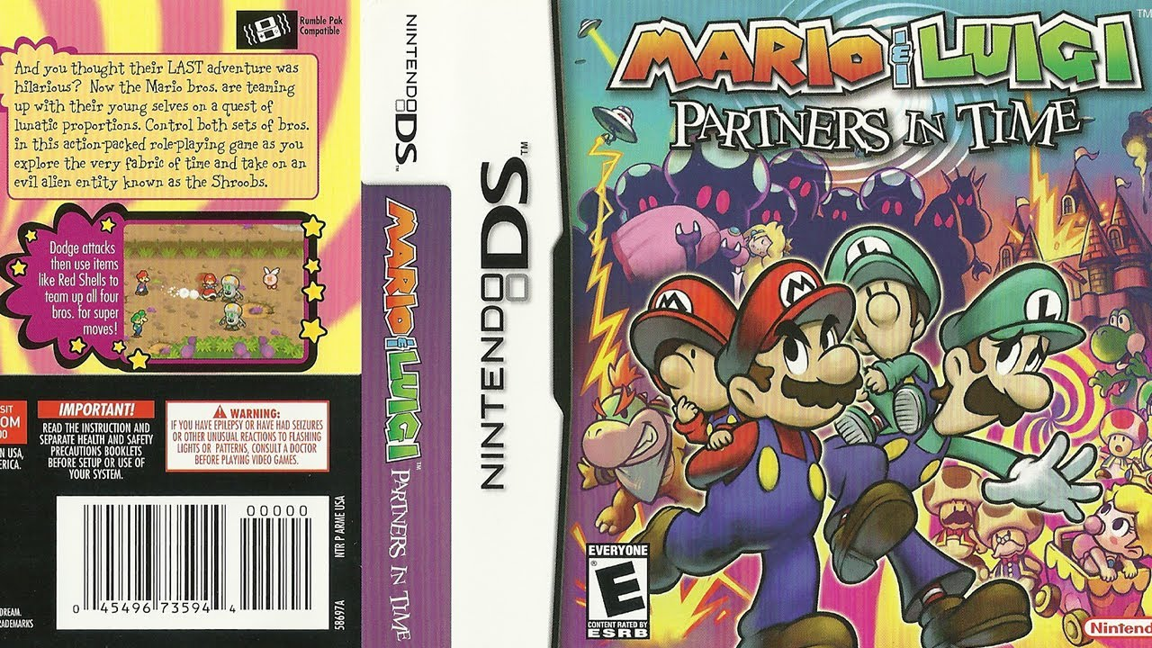 Mario Luigi Partners In Time Ds Unboxing Manual Box Art Game Card Full Case